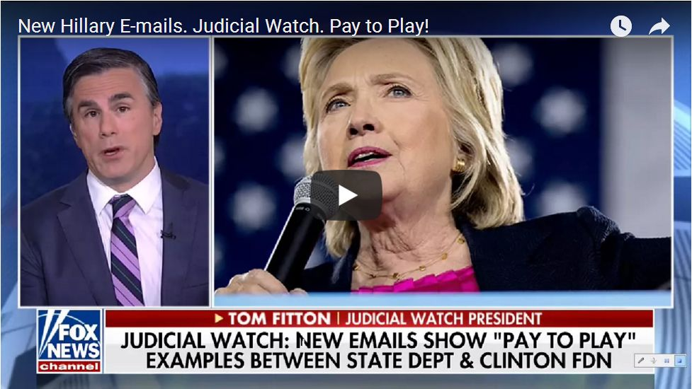 TOM FITTON ON CLINTON PAY TO PLAY