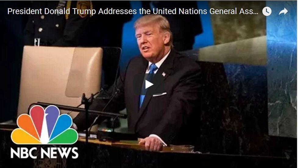 PRESIDENT ADDRESSES UNITED NATIONS