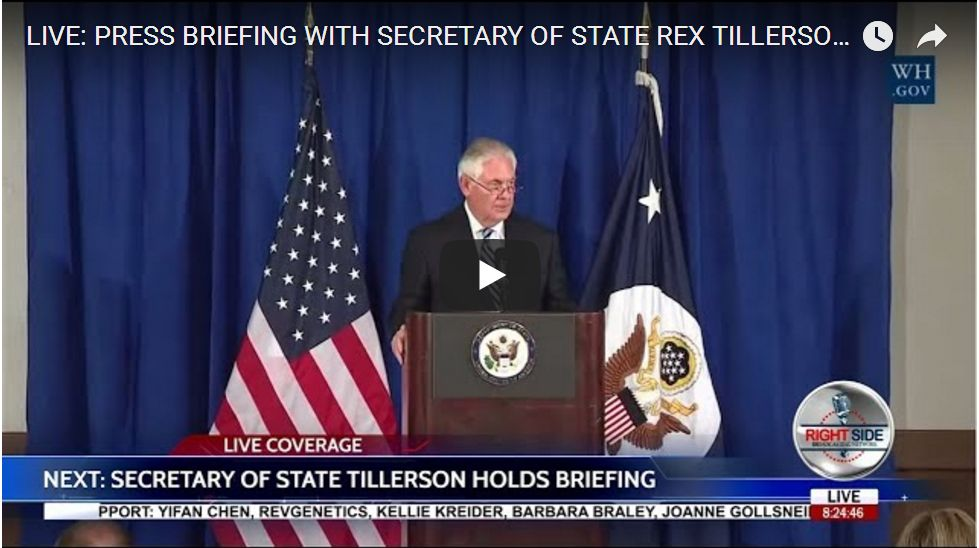 TILLERSON PRESS CONFERENCE ON IRAN