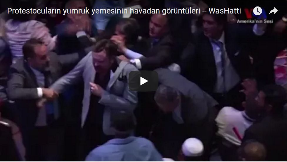 VIOLENTLY EJECTED BY ERDOGAN THUGS