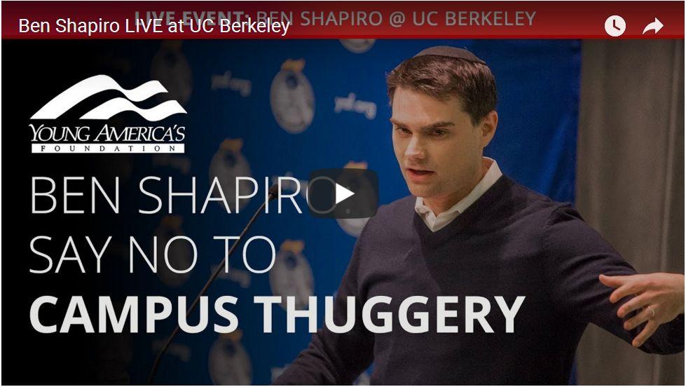 FULL SPEECH: BEN SHAPIRO AT BERKELEY…