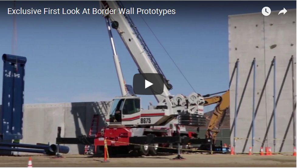 CLOSE LOOK AT BORDER WALL PROTOTYPES