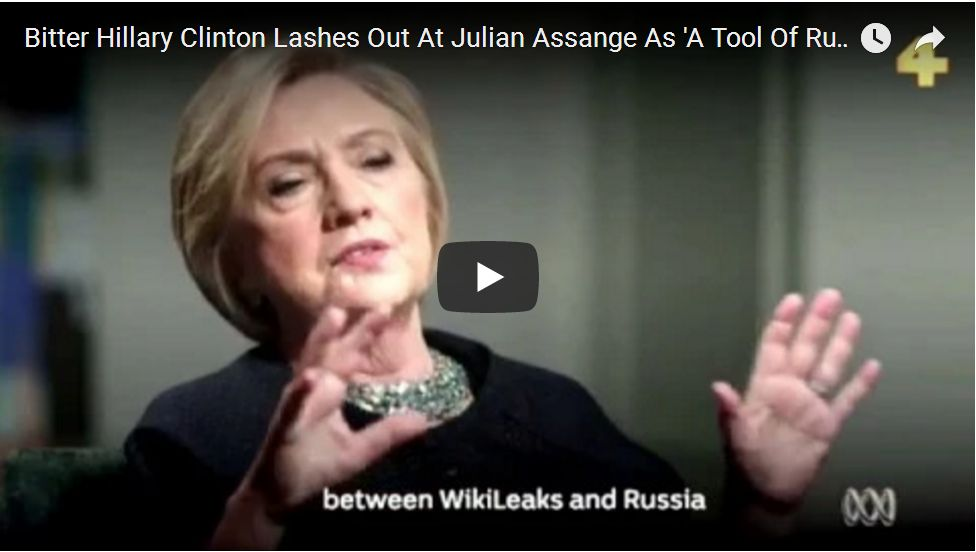 ASSANGE RESPONDS TO LIES FROM CLINTON