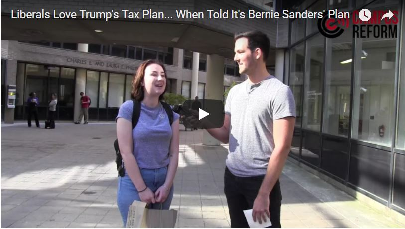 Students LOVE Trump's Tax Plan – When Told It's Bernie's