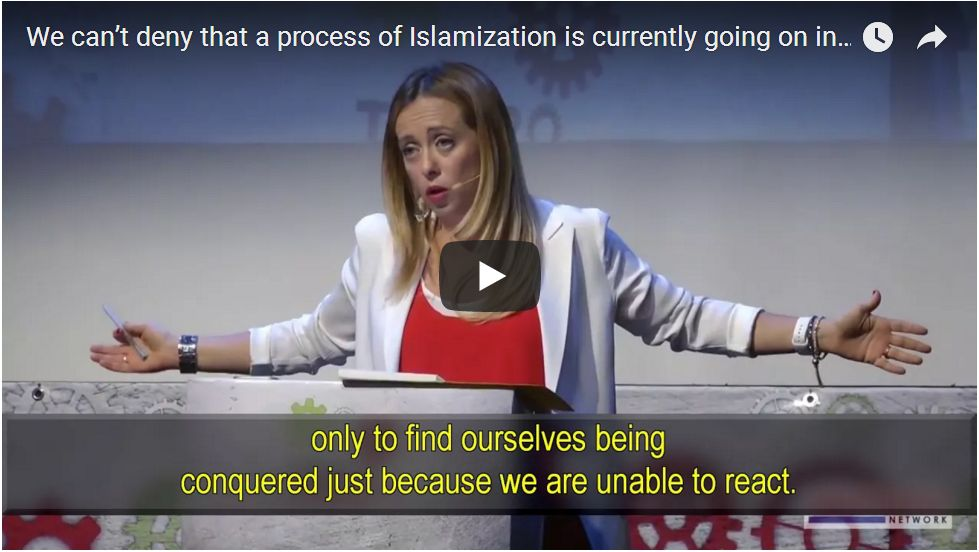 'EUROPE IS BEING CONQUERED BY ISLAM'