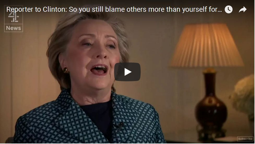 British Reporter BUSTS Hillary: 'So You're Still Blaming Others More Than Yourself?'