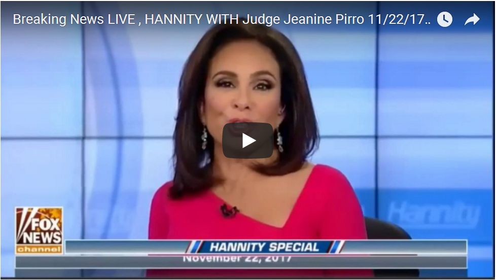 JUDGE JEANINE WITH GREGG JARRETT ON URANIUM ONE, FUSION GPS BOMBSHELL