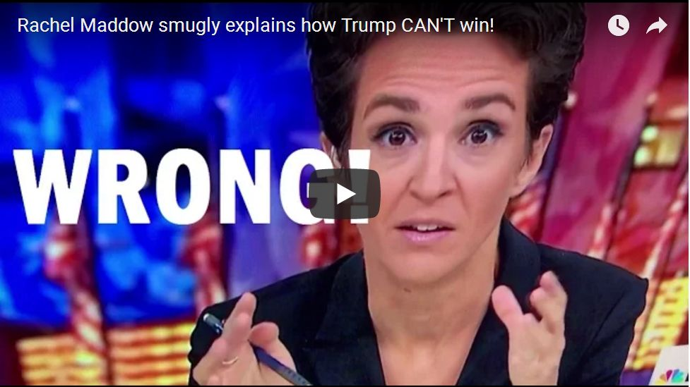 Rachel Maddow Smugly Explains How Trump Can't Possibly Win, Then Suffers EPIC Meltdown…
