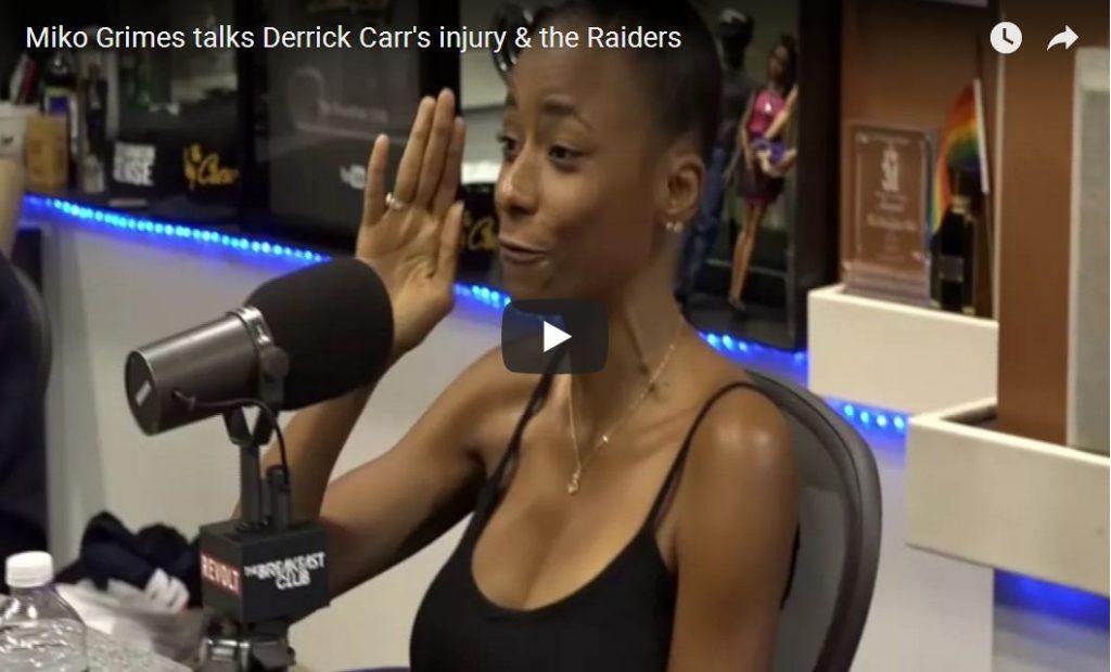 Wife Of NFL Player Confirms Raiders Let Derek Carr Get Hurt Over Anthem Protest…