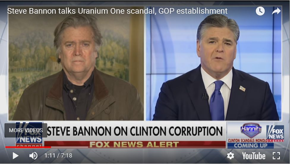 Bannon On Media, McConnell, And Uranium One…