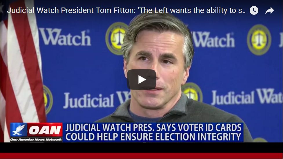 Tom Fitton: The Left Uses Illegal Voters To Steal Elections – Just Ask Al Franken How He Won…