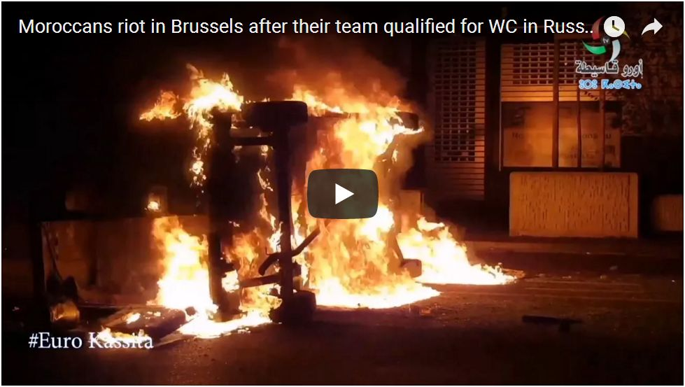 Muslims Riot In Brussels, Christmas Market Hit…