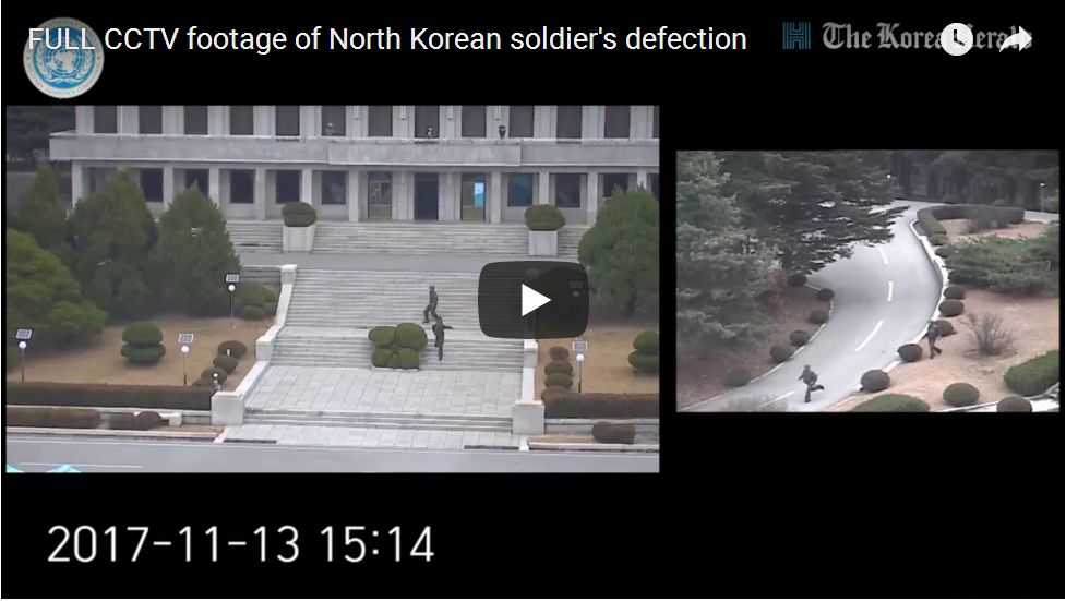 Dramatic Video Shows NKorean Soldier Making A Run For Freedom, Getting Shot 5 Times…