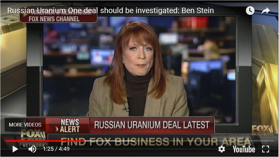 BEN STEIN: INVESTIGATE THE URANIUM ONE DEAL!