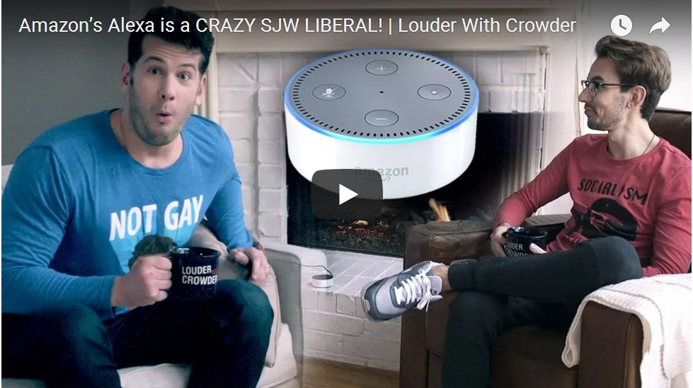 Steven Crowder Asks 'Alexa' Political And Social Questions, And She Answers Like A Leftist