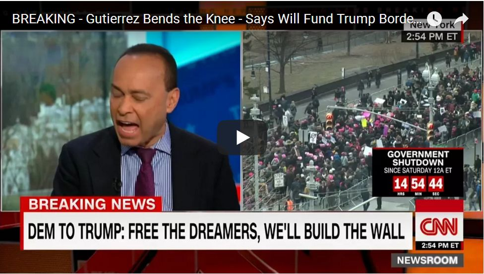 In Surprise Move, Gutierrez Becomes The First Democrat Willing Trade The Wall For DACA…