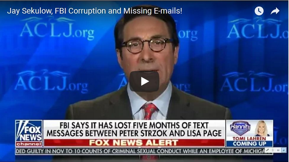 Jay Sekulow: 'Text Messages Prove James Comey Lied Under Oath, A Felony'