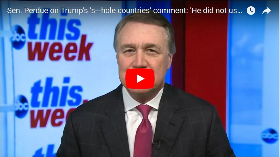 Perdue Gets Testy With Stephanopoulos: I Was There, Trump Did Not Use THAT Word…