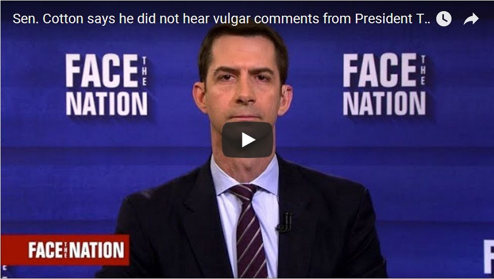 Tom Cotton: Dick Durbin Has A History Of Lying About White House Meetings…