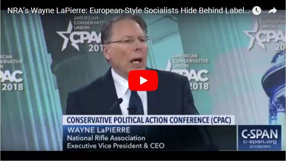Wayne LaPierre Targets 'Divisive' Obama…