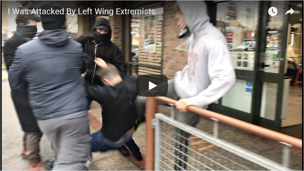 Tommy Robinson Attacked By ANTIFA Fascists…
