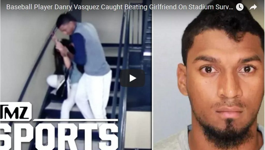 BRUTAL FOOTAGE: Baseball Player Caught On Video Beating Up His Girlfriend At Stadium…