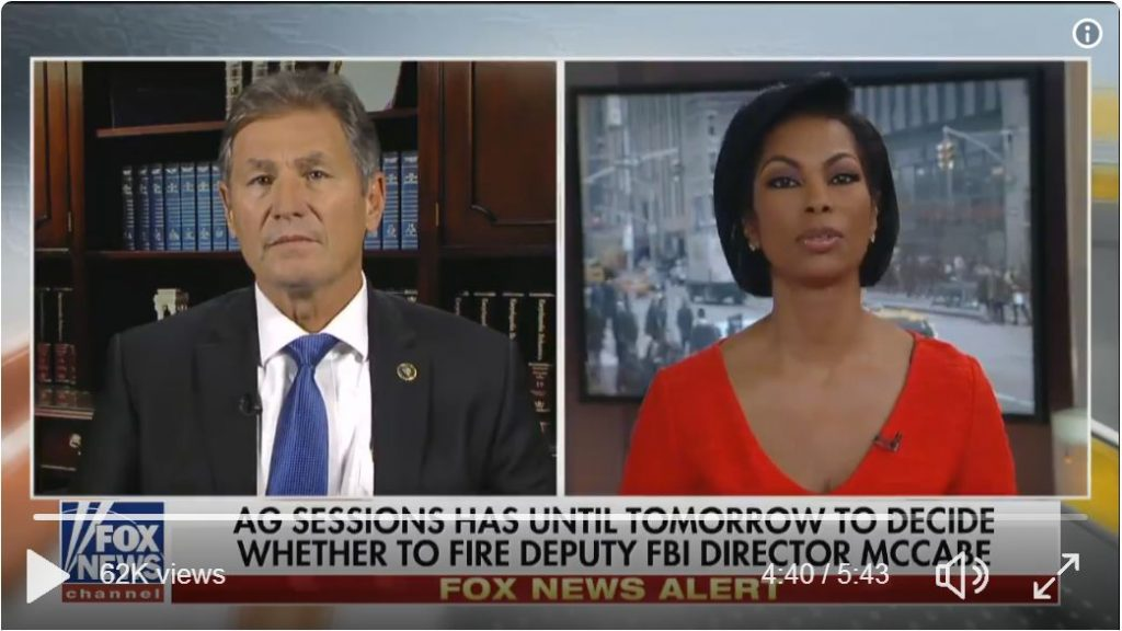 Former FBI Director: After Lying, Andrew McCabe Is No Longer A Viable Witness For Mueller Probe…