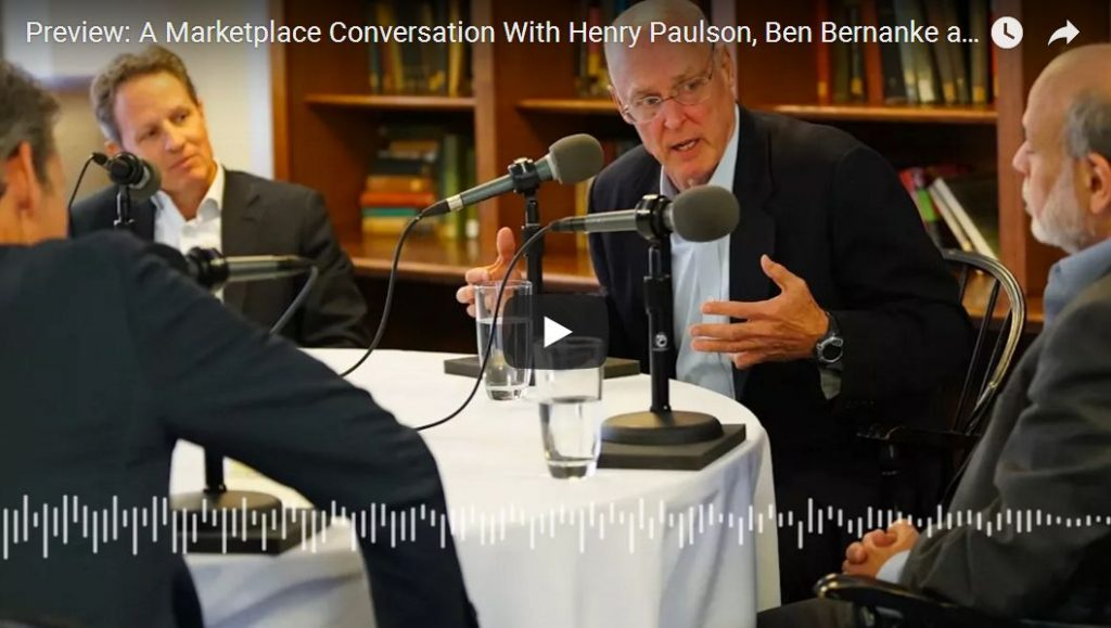 Holy Bailout: Marketplace Radio Interviews Bernanke, Geithner And Henry Paulson (Transcript)