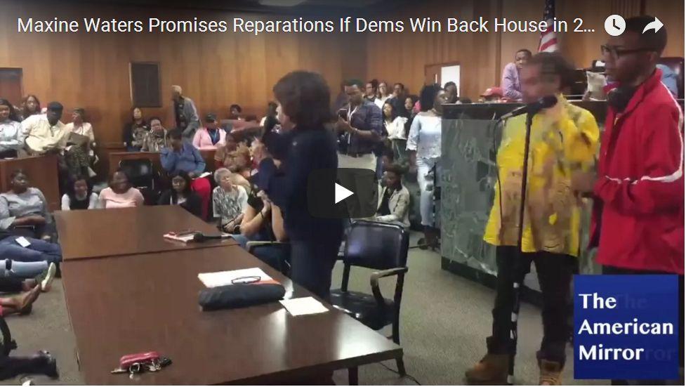 Maxine Promises Reparations If Democrats Win…