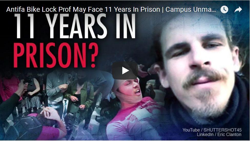 Antifa Bike Lock Professor Faces 11 Years In Prison