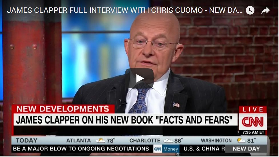 Clapper Makes Excuses For Spying…