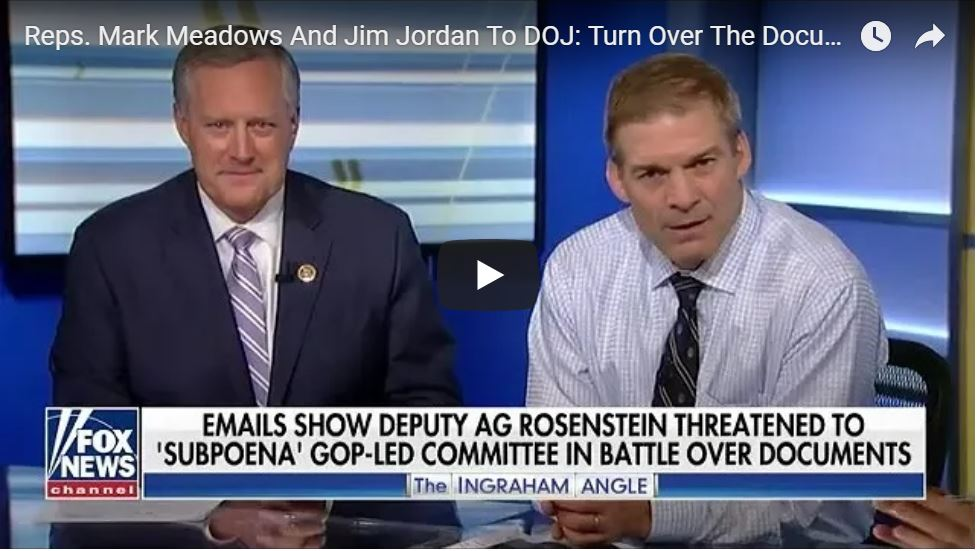 Jim Jordan Has Had Enough! What Are Sessions And Rosenstein Hiding?