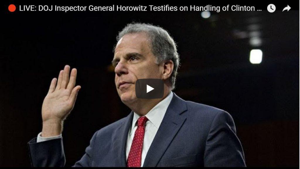 WATCH LIVE: Horowitz Testifies Before House Oversight Cmte