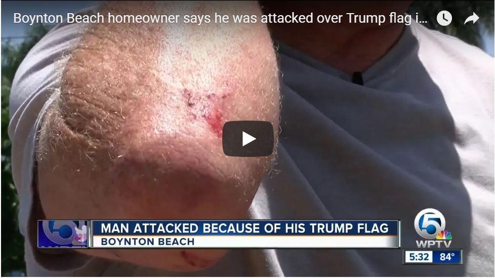 DEMOCRAT VIOLENCE: Florida Homeowner Beaten By Stranger For Flying Trump Flag In Yard