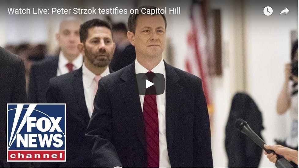 Watch Live: Dirty FBI Agent Peter Strzok Testifies