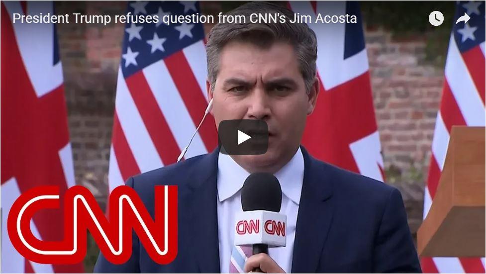 'FAKE NEWS': Trump Trolls Acosta On International Stage