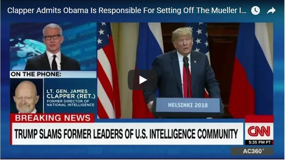 Clapper: 'Obama Was Behind Entire Spying Op'…