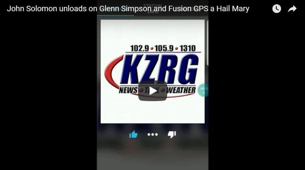 BOOM! John Solomon Unloads On Glenn Simpson
