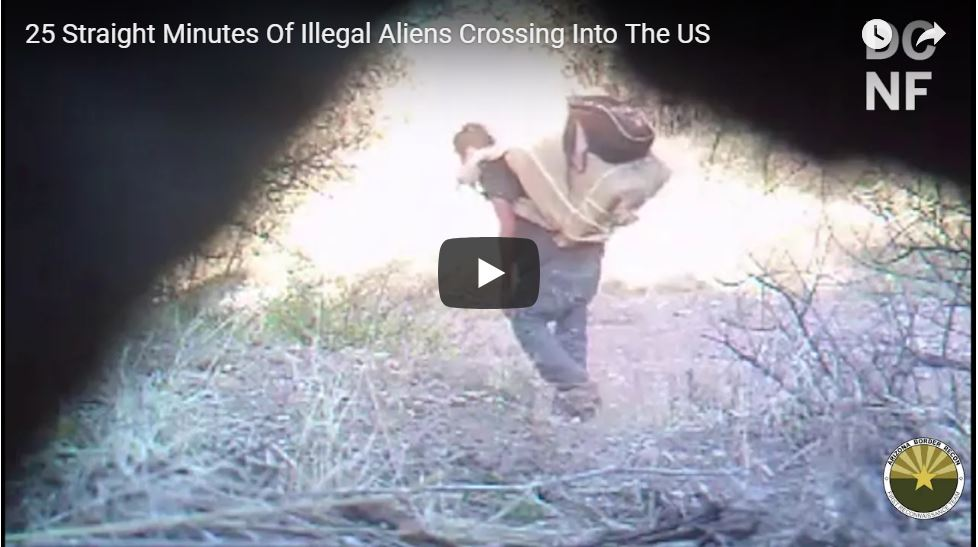 25 Straight Minutes Of Illegal Aliens Crossing Into USA Through Arizona Ranch…