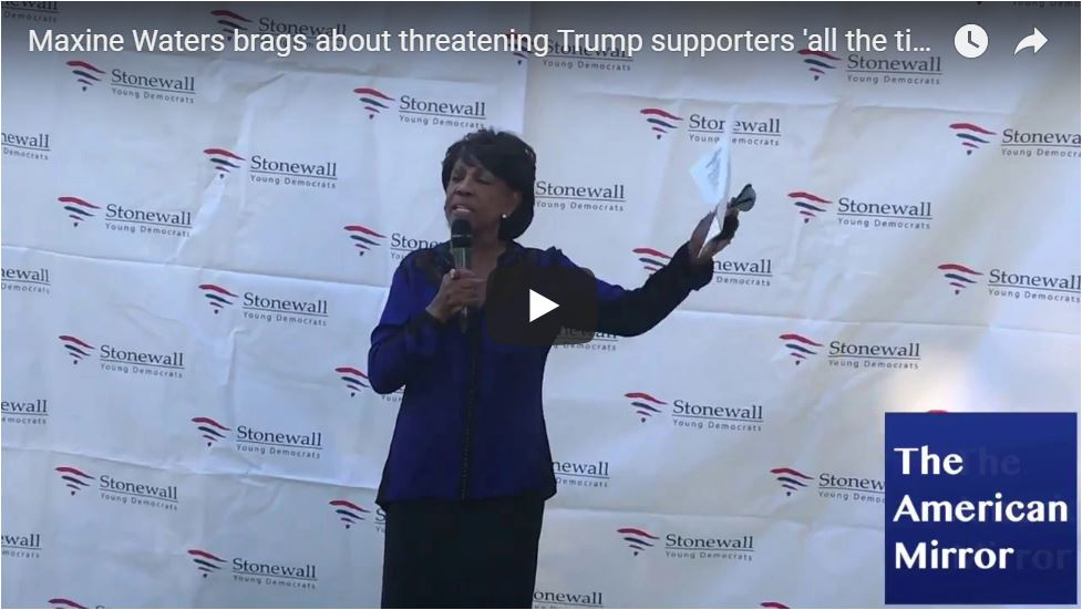 MAXINE: I Threaten Trump Supporters All The Time