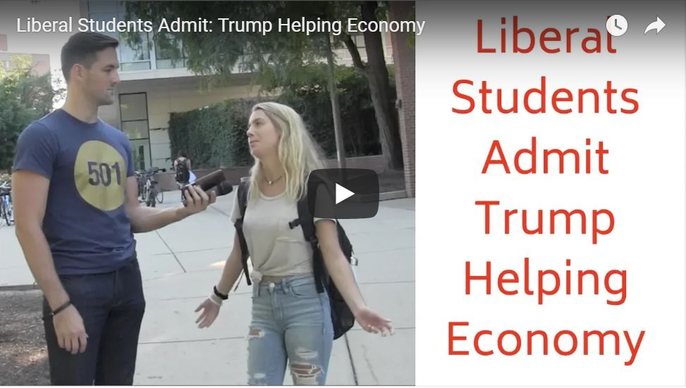 Liberal Students Give Credit To Trump…