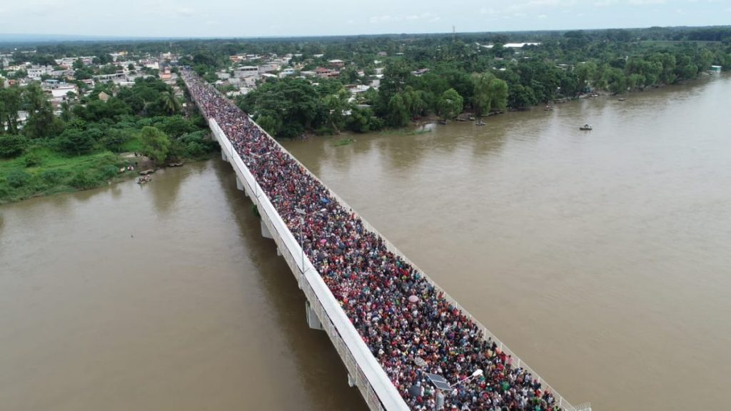Illegal Migrant Standoff On Mexican Bridge…
