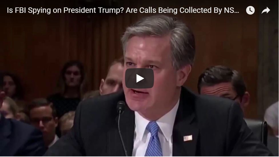 Rand Paul Asks Chris Wray … 'Is The FBI Spying On President Trump Right Now? Are His Calls Listened To?' – Wray Refuses To Answer!