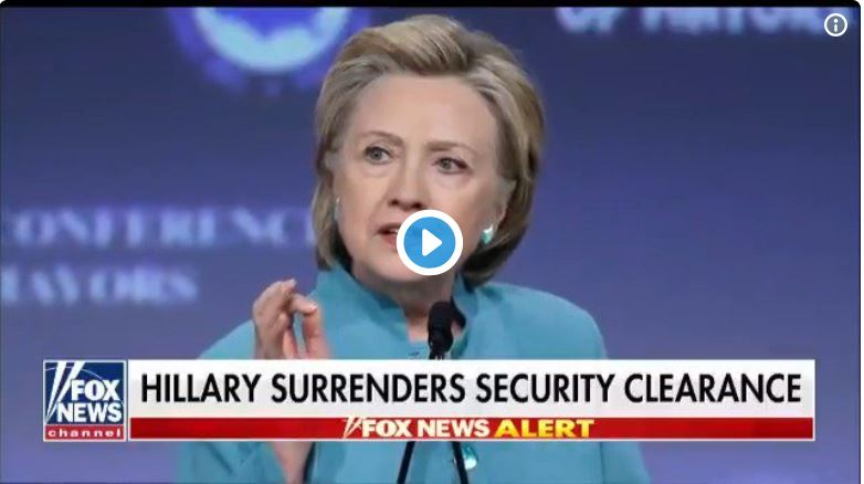 Hillary (And Cheryl Mills) Lose Top-Secret Clearance