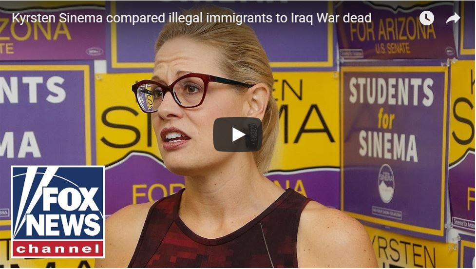 Kyrsten Sinema Compares Illegal Aliens To American Soldiers Dying In Iraq…