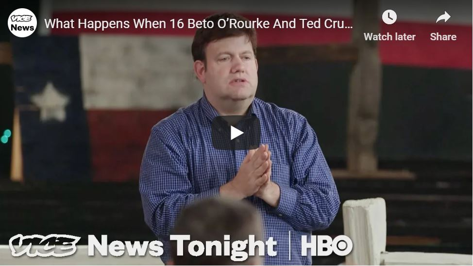 GREAT CLIP … Beto And Cruz Voters Toss Insults