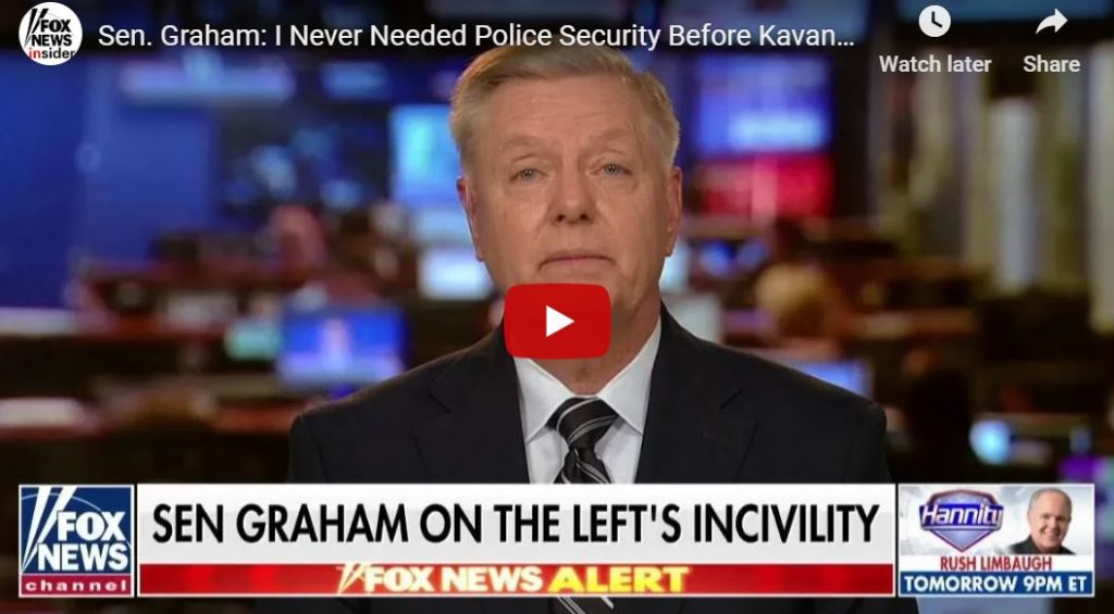 Lindsey Graham – I Never Needed Capitol Police Security Until The Last 2 Weeks…