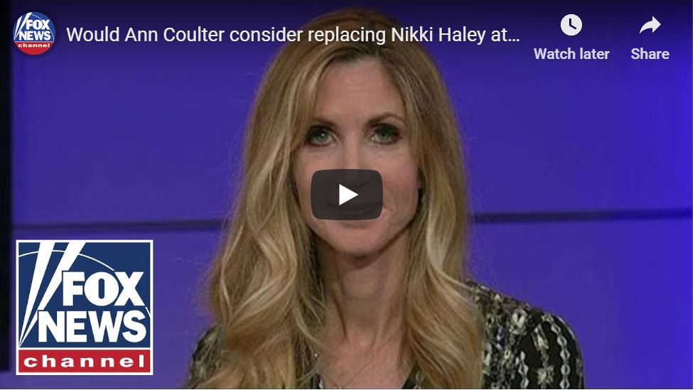 Well Played, Ann Coulter … Hilarious UN Response