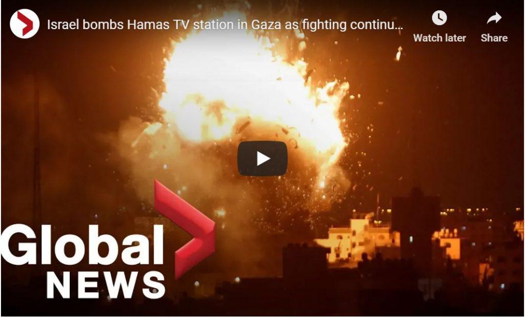 Israel Destroys 5-Story Hamas Terror TV Station…