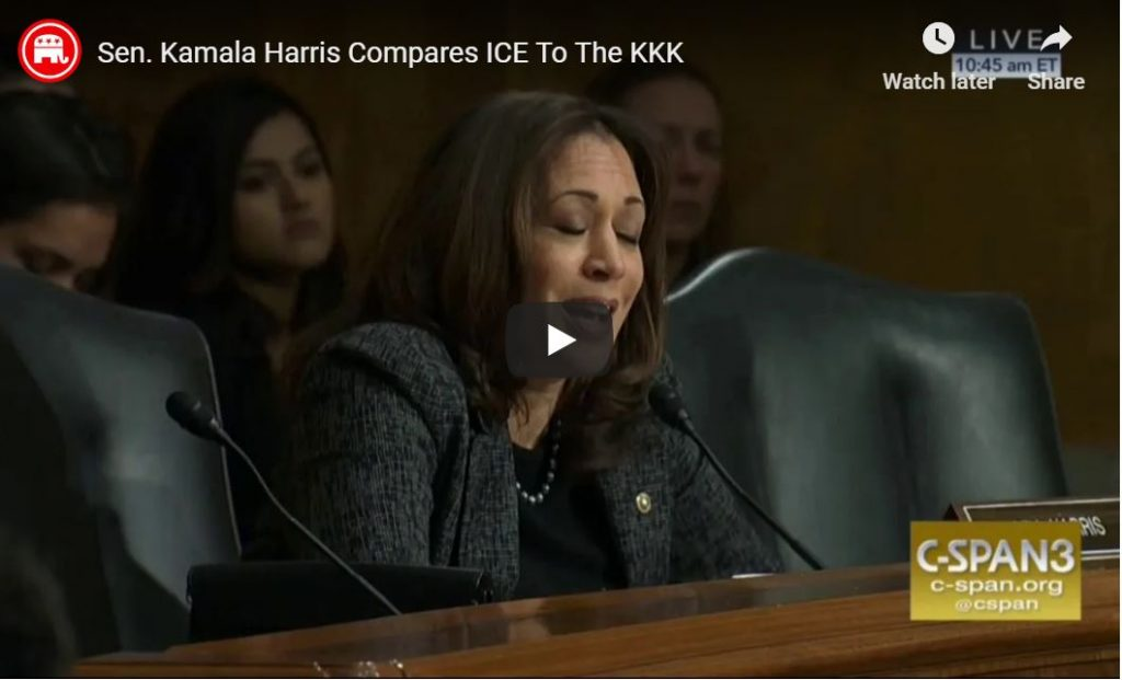 'Open Borders' Kamala Compares ICE To The KKK…